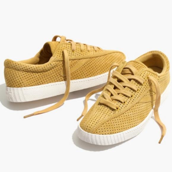 Tretorn Mustard Yellow Sneakers Nwt